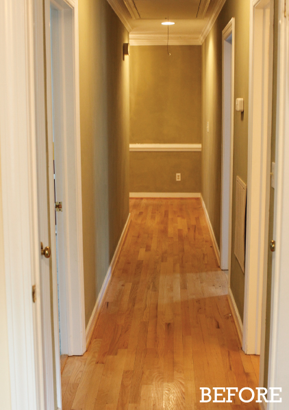 hallway textured paint