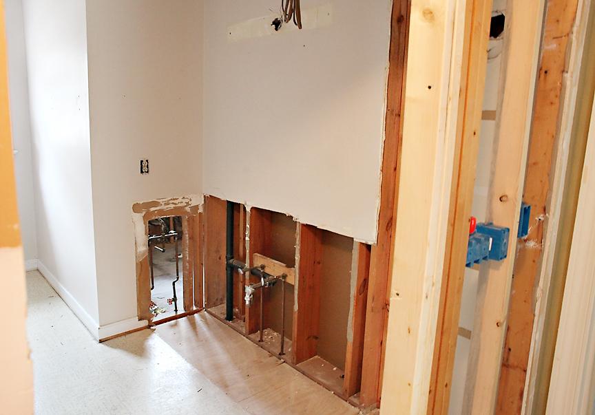 DIY Bathroom renovation demo