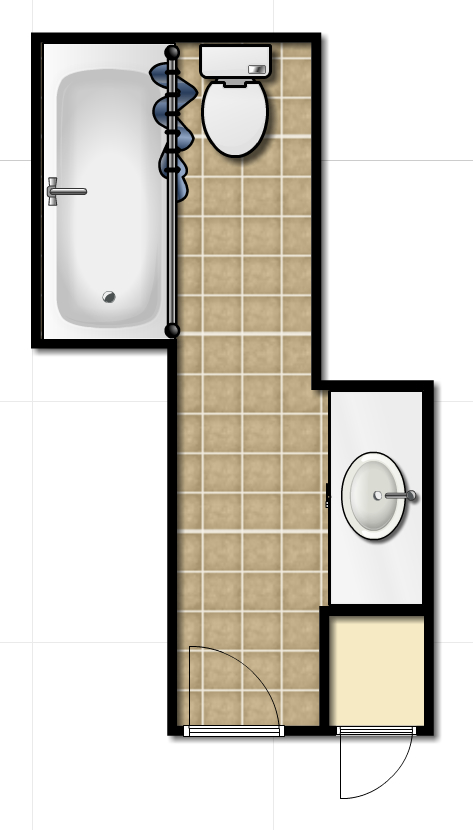 layout hallbath HALL BATHROOM RENO