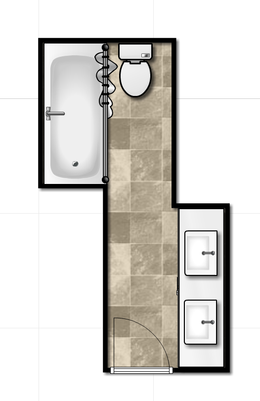 layout hallbath new HALL BATHROOM RENO