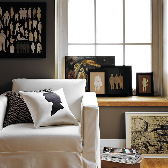 west elm silhouette decor