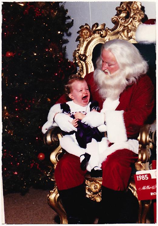 ashley with santa