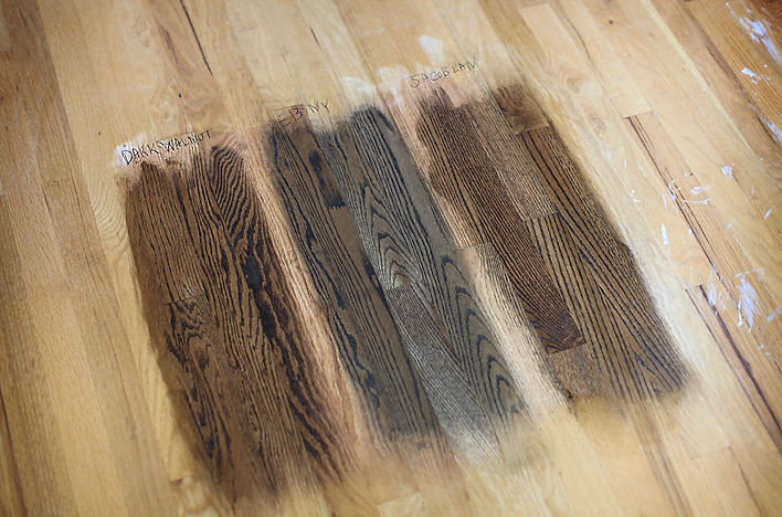 how to get dark water stains out of hardwood floors