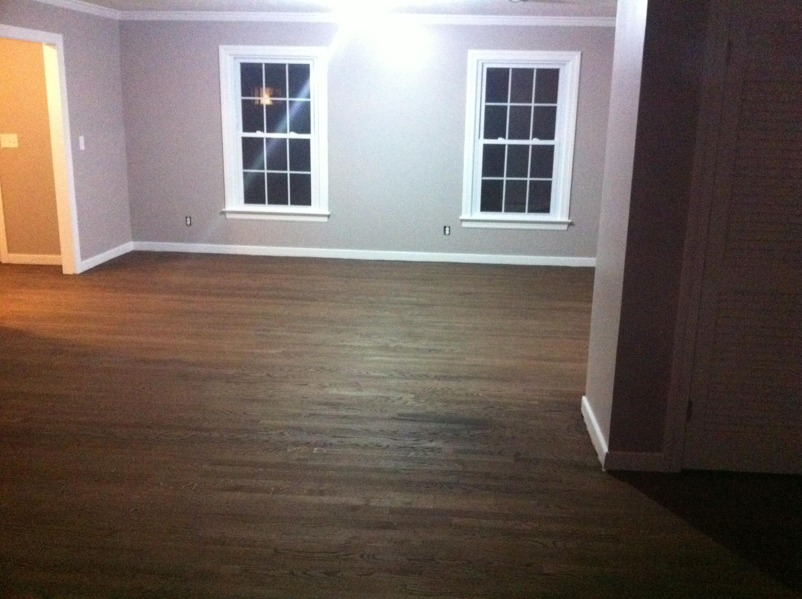 Dark walnut floor stain - The
