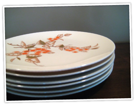vintage plates ETSY THURSDAY: THANKSGIVING EDITION