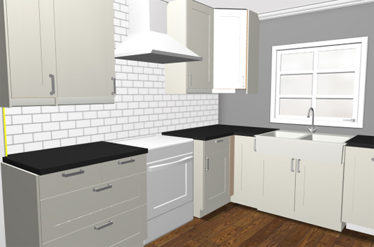 ikea kitchen rendering