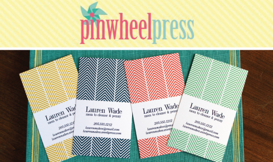 pinwheelpress 1 GIVEAWAY: CUSTOM CALLING CARDS
