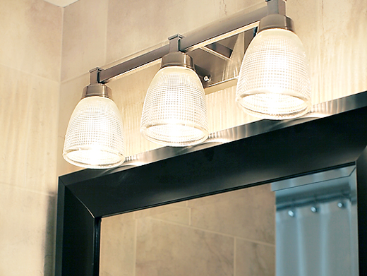 hallbathroomlighting A HALL BATHROOM UPDATE
