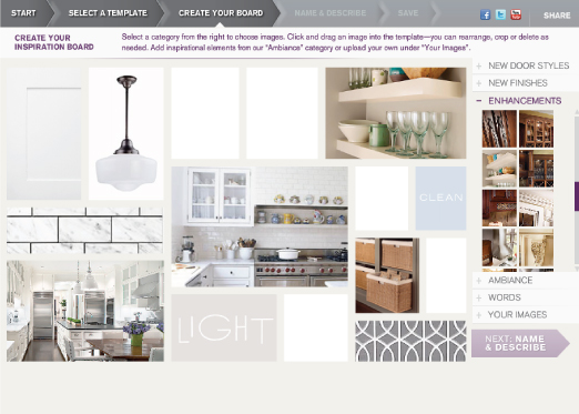kraftmaid design board process