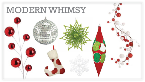 modern whimsy christmas decorations