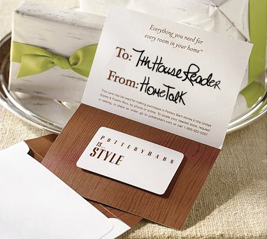 potterybarngiftcard GIVEAWAY: $100 POTTERY BARN GIFT CARD