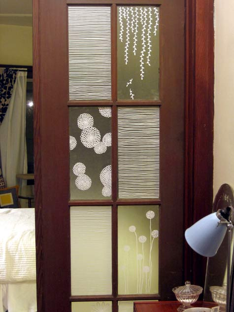 Decorating window covering for door : ONE ROLL OF CONTACT PAPER LATER… – 7th House on the Left
