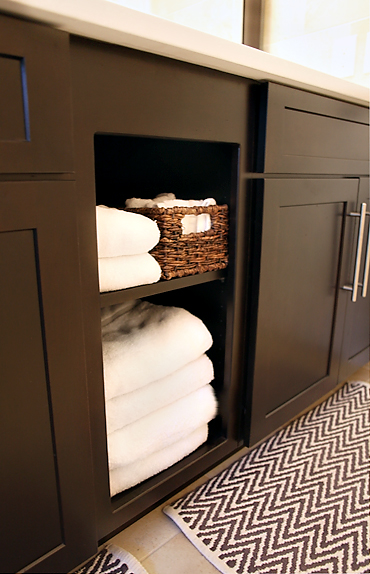 towelstorage HALL BATHROOM RENOVATION: DONE!