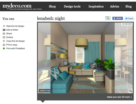 mydeco ONLINE DESIGN TOOL FAVORITES
