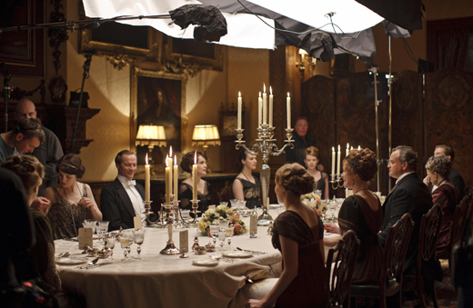 bts diningroom ON THE SET: DOWNTON ABBEY