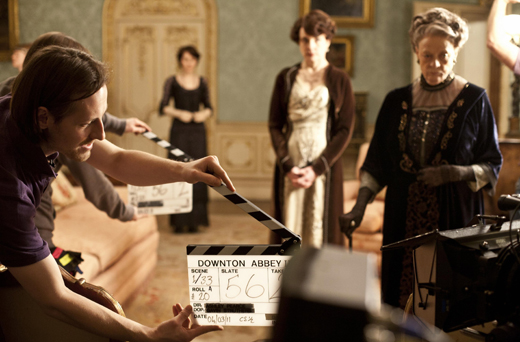 bts drawingrm ON THE SET: DOWNTON ABBEY