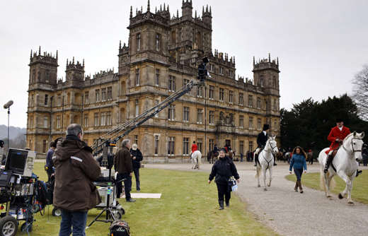 bts exterior ON THE SET: DOWNTON ABBEY