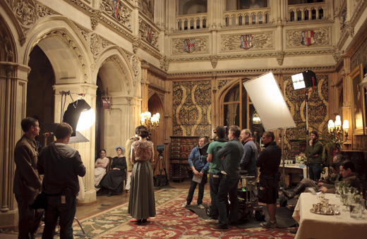 bts grandroom ON THE SET: DOWNTON ABBEY