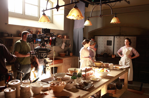 bts kitchen ON THE SET: DOWNTON ABBEY