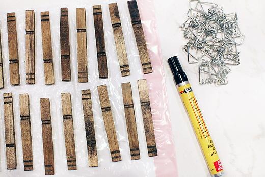 clothespinplanters pieces1 DIY CLOTHESPIN HERB PLANTERS