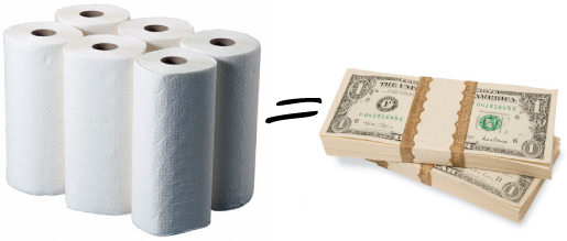 papertowelmoney QUICK TIP: THROWING IN THE [PAPER] TOWEL