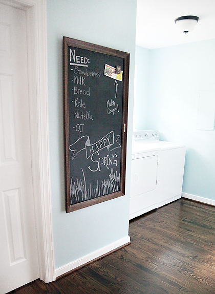 Diy Magnetic Chalkboard 7th House On The Left