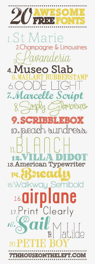 fonts1 20 {FREE} FONT FAVORITES