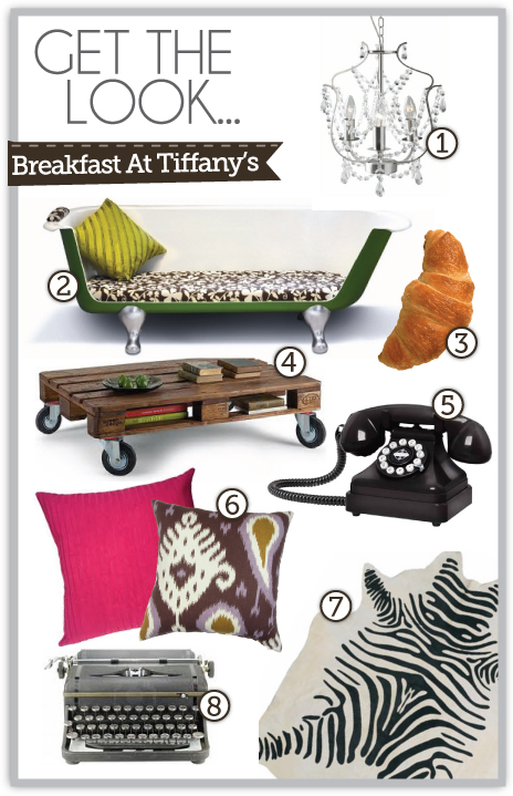 breakfast at tiffany's style, decor, furniture