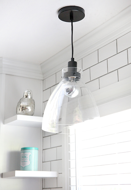 kitchen pendantlight SEMI DIY FLOATING SHELVES