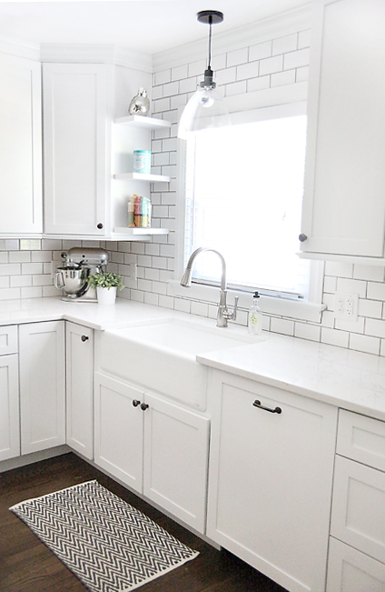 kitchen sink SEMI DIY FLOATING SHELVES