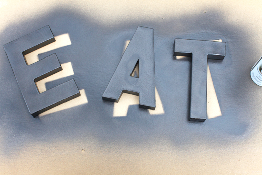 weatheredletters spraypaint DIY WEATHERED METAL LETTERS