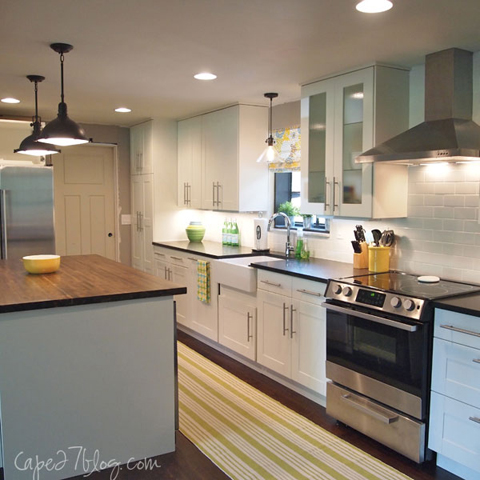 KitchenSideLights READER RENO: JESSIES KITCHEN RENOVATION