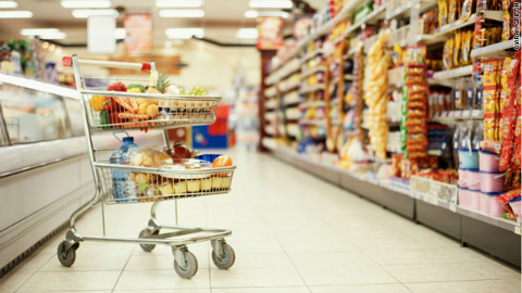 grocery store aisle 6 TIPS FOR SAVING MONEY + WASTING LESS