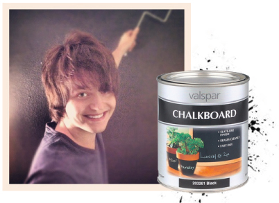chalkboardpaint1 BEFORE + AFTER: BULLSEYE UNIVERSITY