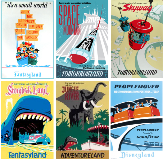 vintagedisneylandposters MOOD BOARD: FUN + FAMILY
