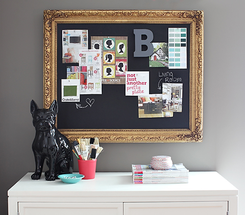 Diy inspiration board 7th house on the left for Cork board inspiration