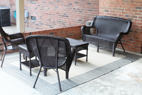 patio furnitureafter PATIO FURNITURE MAKEOVER