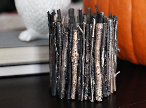 DIY Rustic Glam Votives // 7th House on the Left