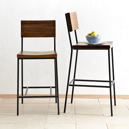 West Elm Rustic Bar Stools / 7th House on the Left
