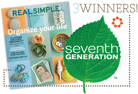seventhgenerationgiveaway GIVEAWAY: REAL SIMPLE + 7TH GENERATION