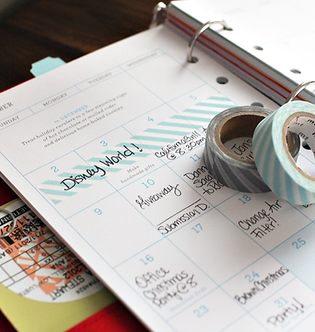 washicalendar 7 WAYS TO USE PAPER TAPE