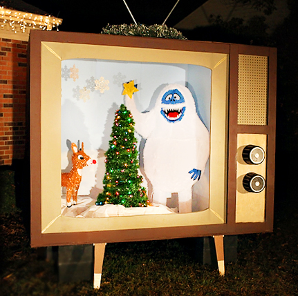 DIY Vintage Christmas TV / 7th House on the Left