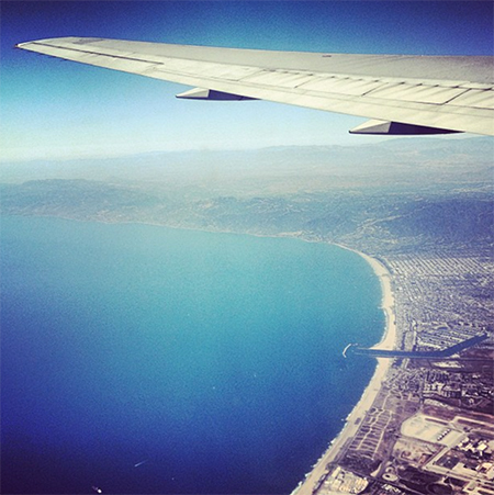 californiaplane SUNSHINE & PALM TREES