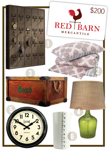 redbarngiveaway1 GIVEAWAY: RED BARN MERCANTILE GIFT CARD