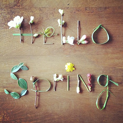Hello Spring SPRINGING FORWARD