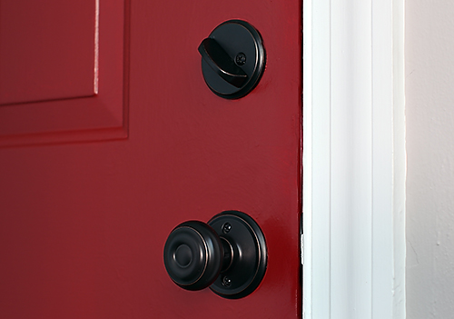 doorhardware PAINTING THE TOWN RED