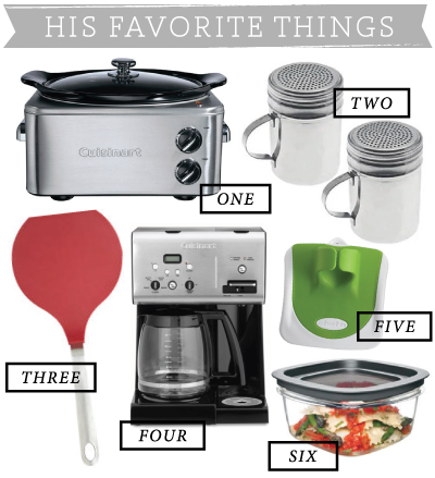 His Favorite Things: Kitchen Edition