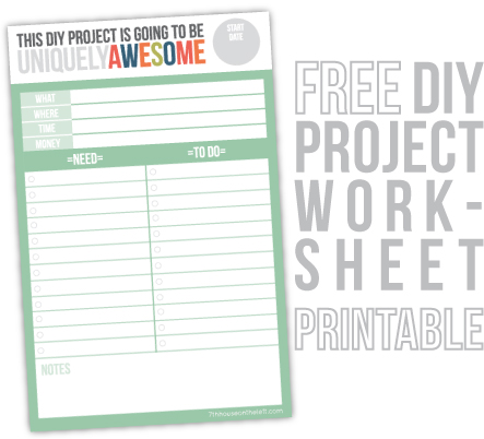 Free DIY Worksheet Printable / 7th House on the Left
