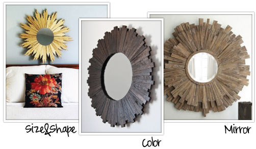 DIY Sunburst Mirror Inspiration / 7th House on the Left