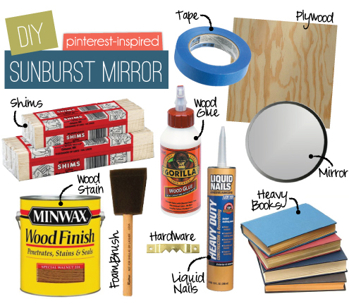 diymirriorsupplies DIY SHIM SUNBURST MIRROR
